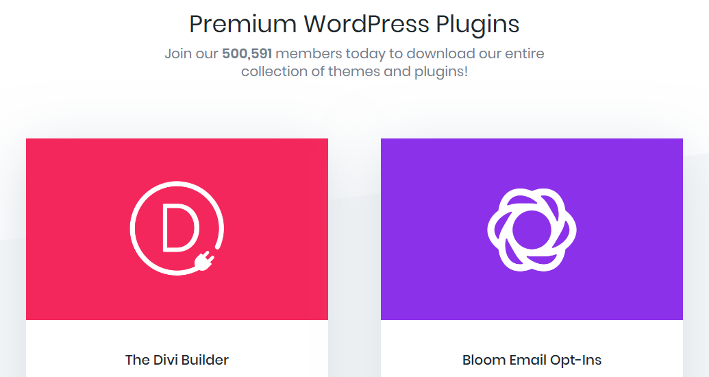 Some of Elegant Themes' family of plugins.