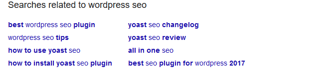 google related search queries