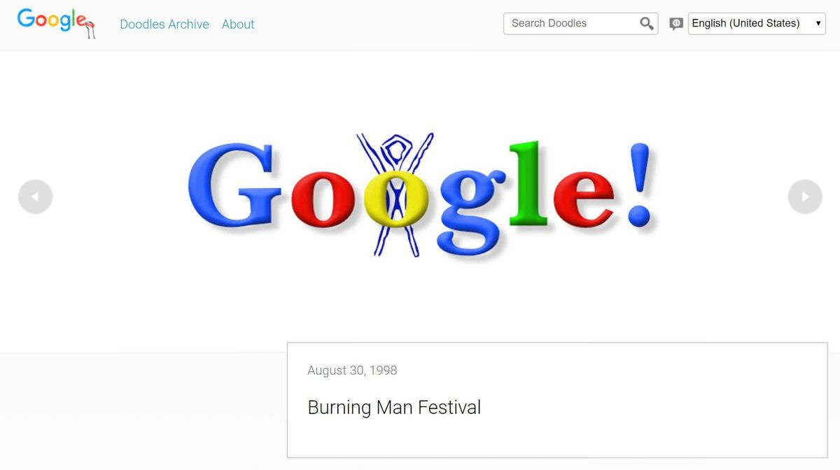 Google's first doodle
