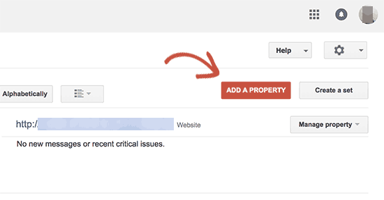 Add https site as a new property in Google Search Console