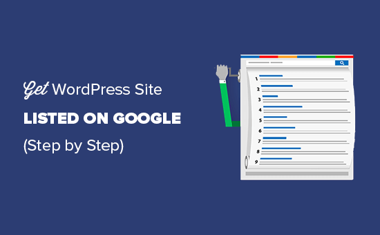 Get your WordPress site listed on Google