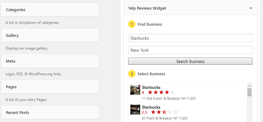 Identifying which business' reviews you want to display.