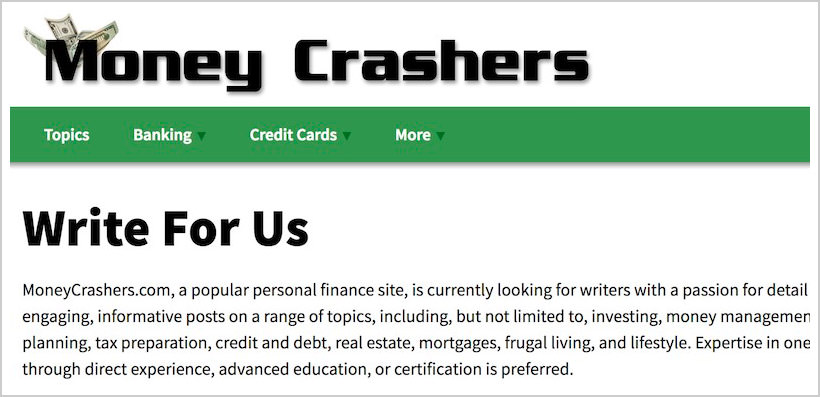 moneycrashers-sites-pay-to-write-blog