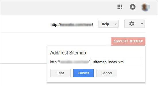 Submit sitemaps URL