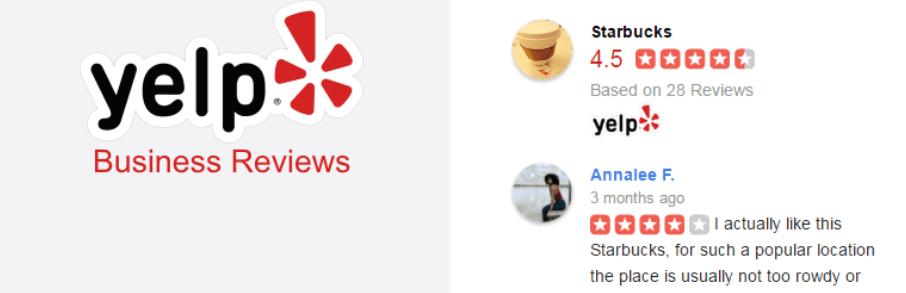 The Yelp Reviews Widget plugin.