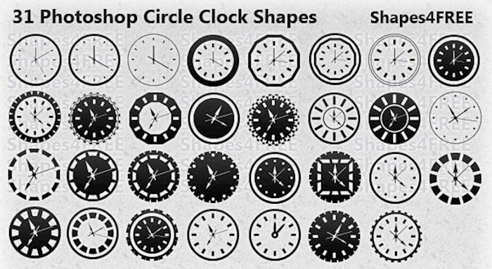 circle-clock-shapes