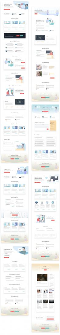 language school Divi layout pack