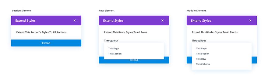 extend styles