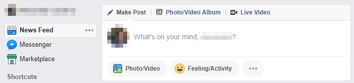 A Facebook timeline.