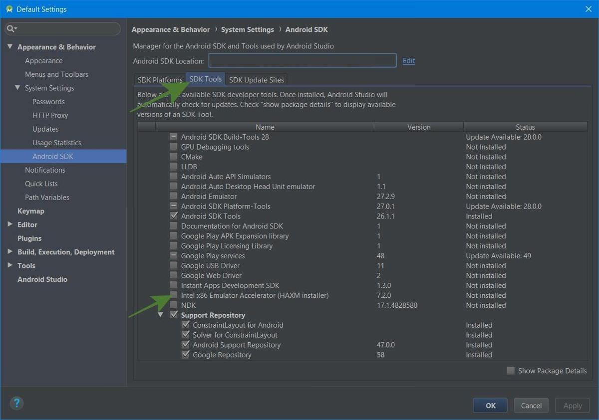 Install HAXM (emulator accelerator)