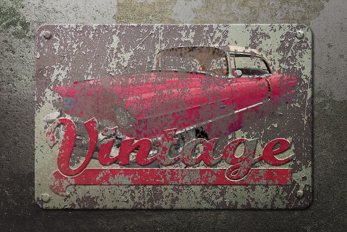 Vintage Rusted Metal Sign
