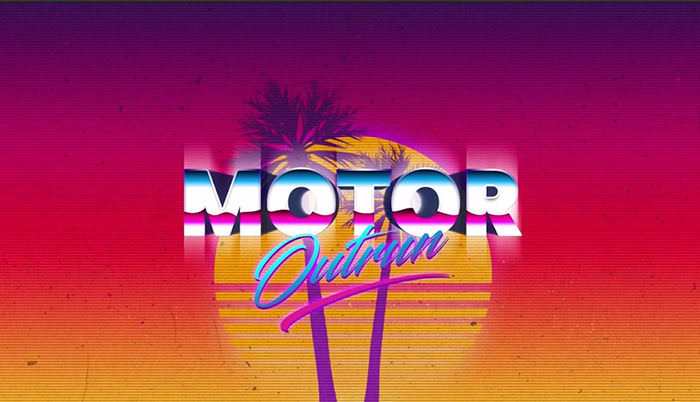 Outrun Retro-Futuristic Pixel Text Effect Photoshop Tutorial