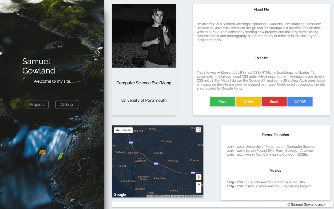 Samuel Gowlan's personal website.