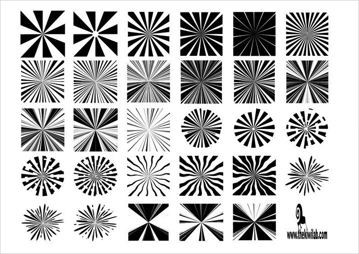 sunburst-shapes