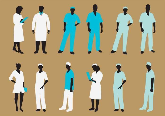 vector-nurse-silhouette