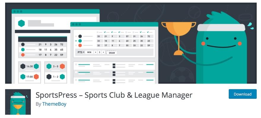WordPress sports plugins