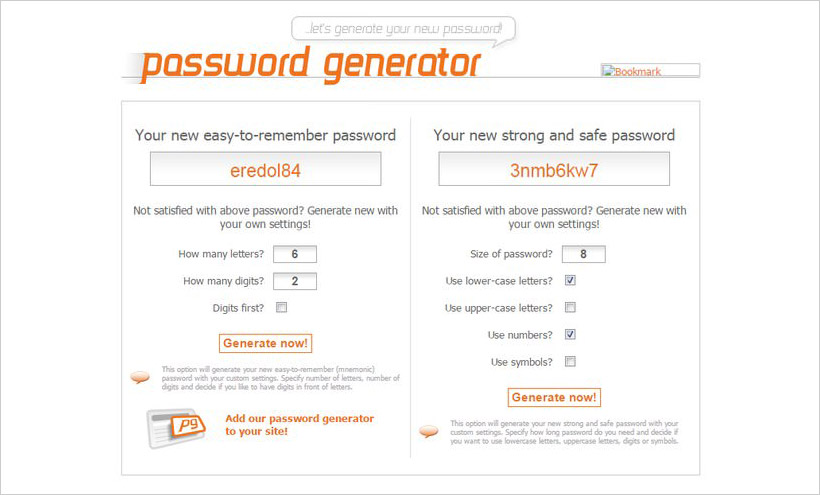 webpagefx password generator