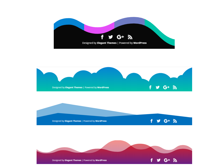 How to Add Creative Background Designs to Divi's Bottom Footer Bar