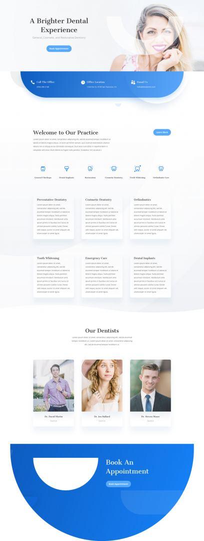 divi dentist layout pack