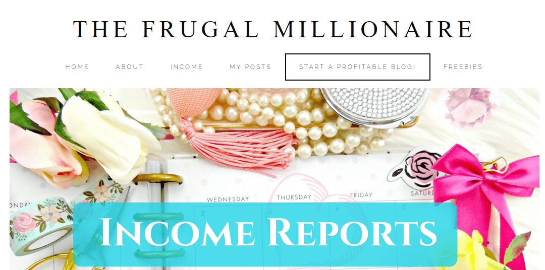The Frugal Millionaire homepage.