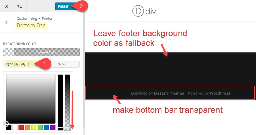 How to Add Creative Background Designs to Divi's Bottom