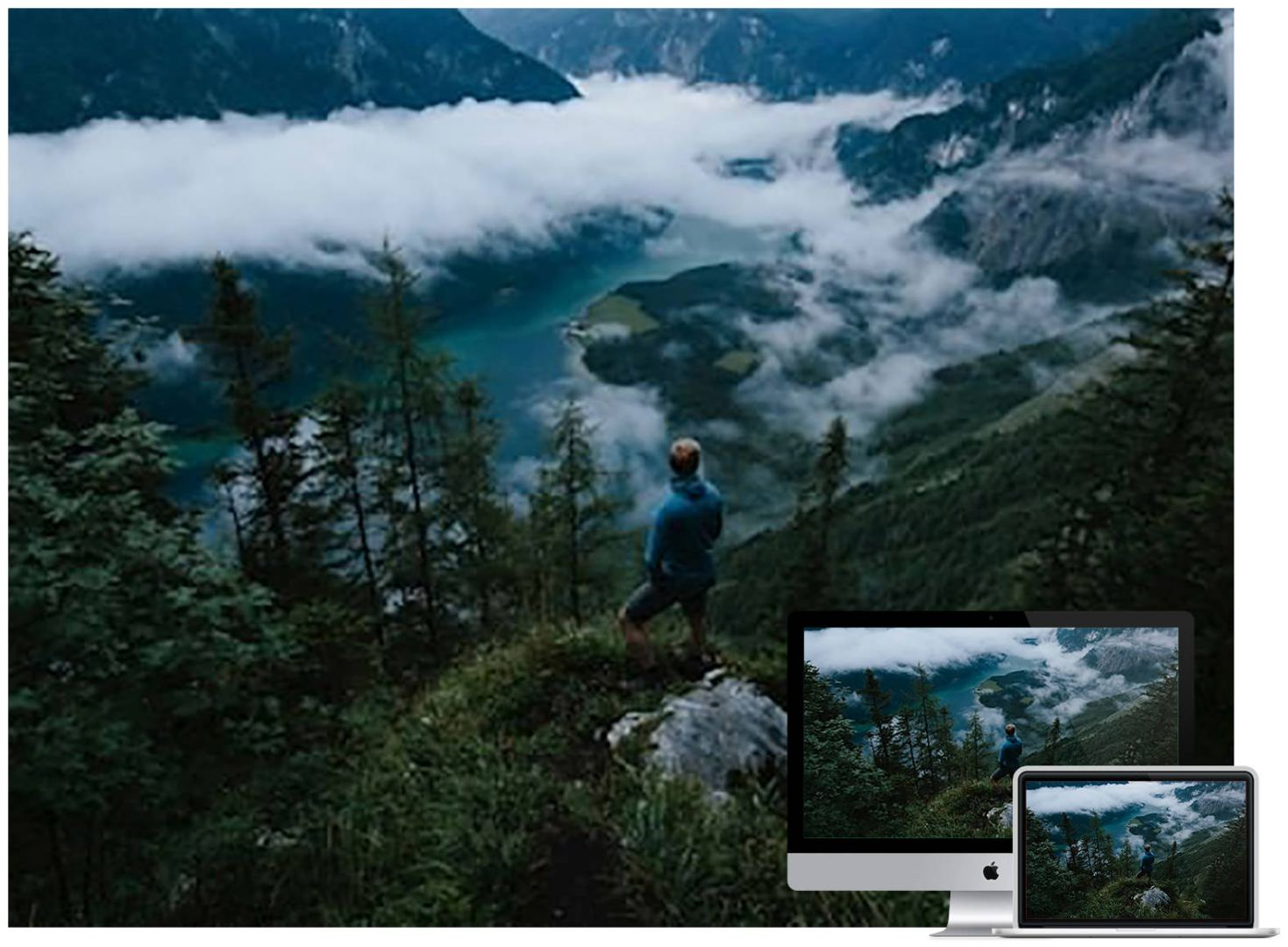 man-mountains-clouds-travel-wallpaper