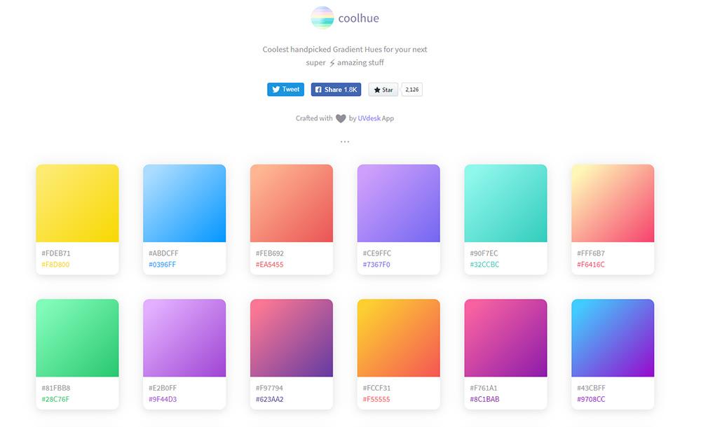 coolHue gradients webapp