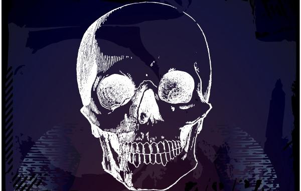 Horror Artistic Grungy Skull
