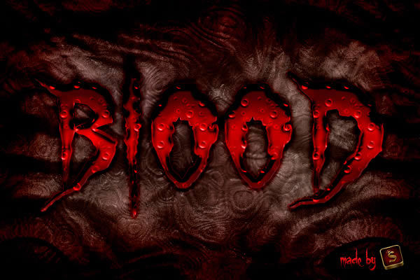 Bloody Text Effect in Photoshop Using Layer Styles