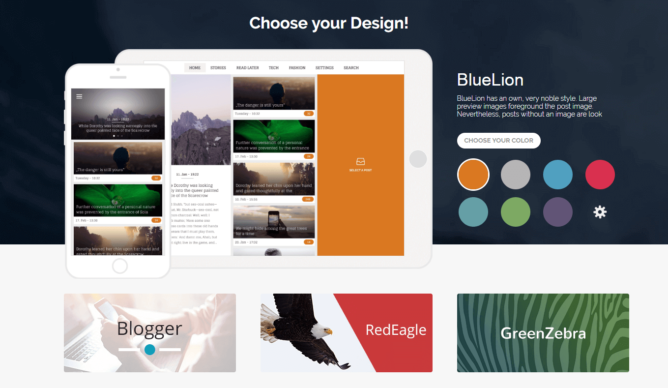 The appful Design tab.