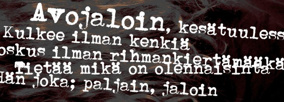 The Avolajoin font.