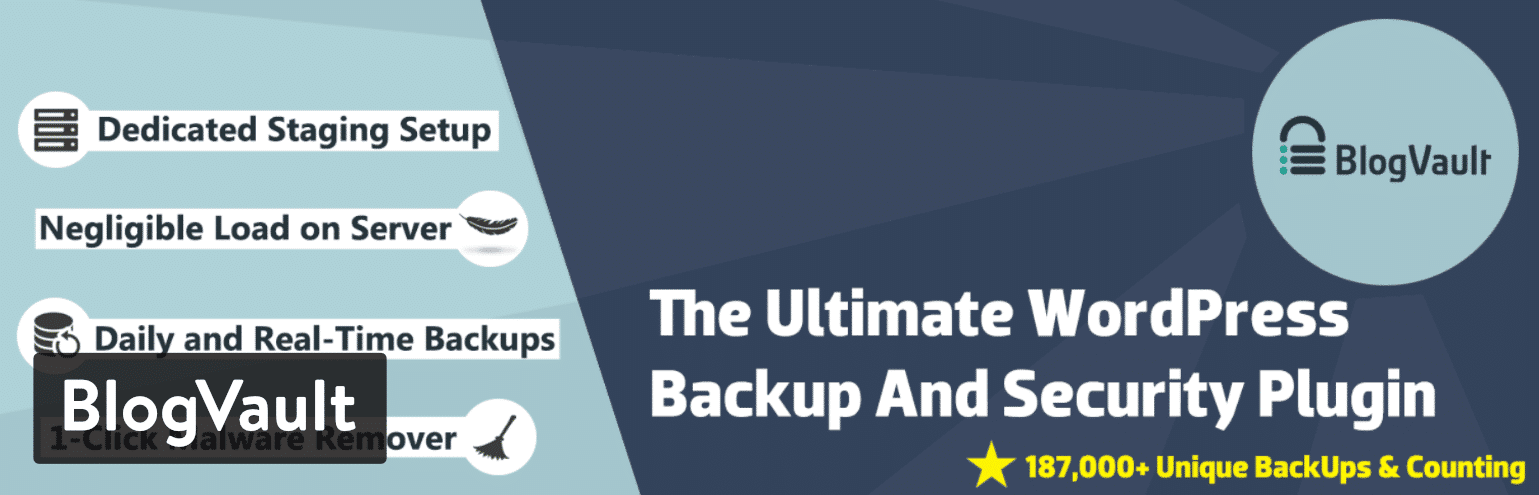 BlogVault WordPress backup plugin