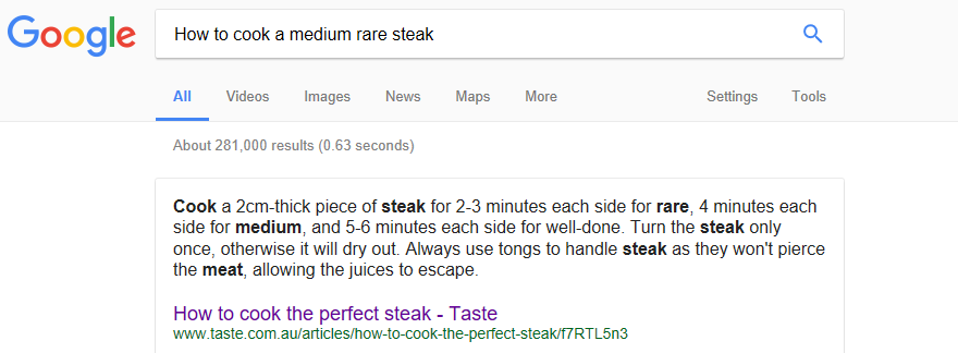 How to cook a steak.