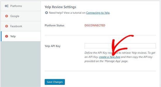 Create YELP app