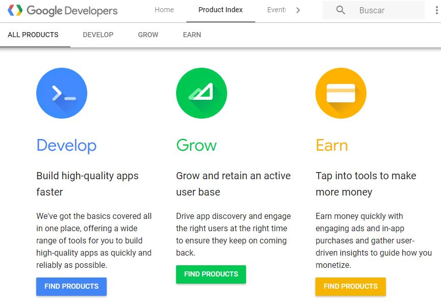 The Google Developers website.