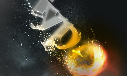 flaming-meteor-effect