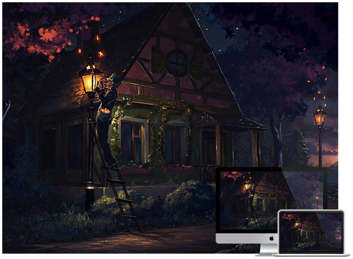 fairy-tale-night-wallpaper