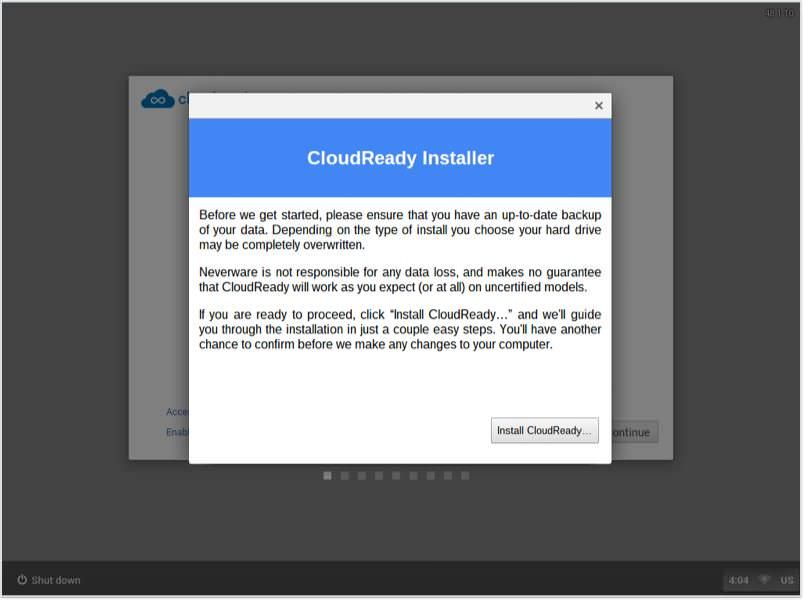 Install CloudReady using CloudReady Installer