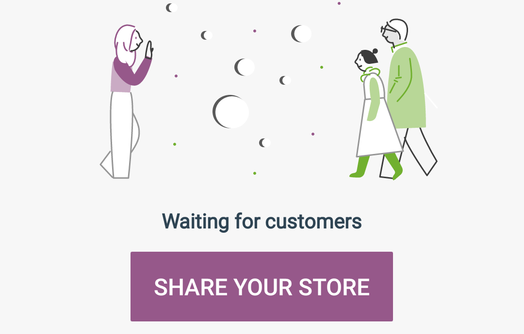 Your store dashboard.