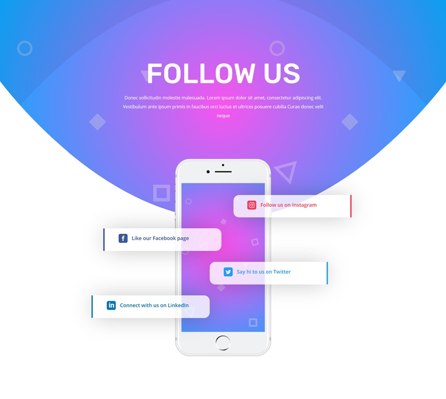 social follow design