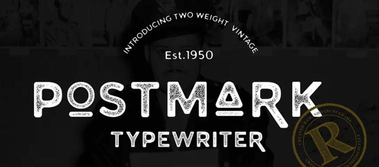 The Postmark Typewriter font.