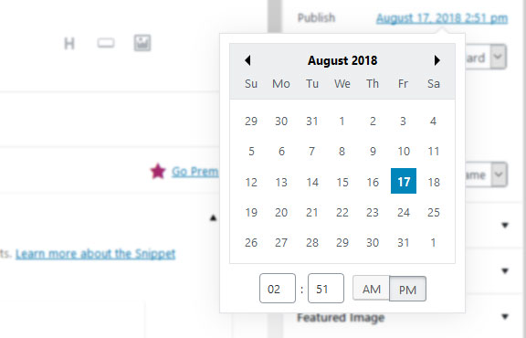 schedule blog post ahead of time in wordpress
