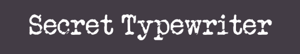 The Secret Typewriter font.