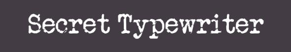 The Secret Typewriter font.