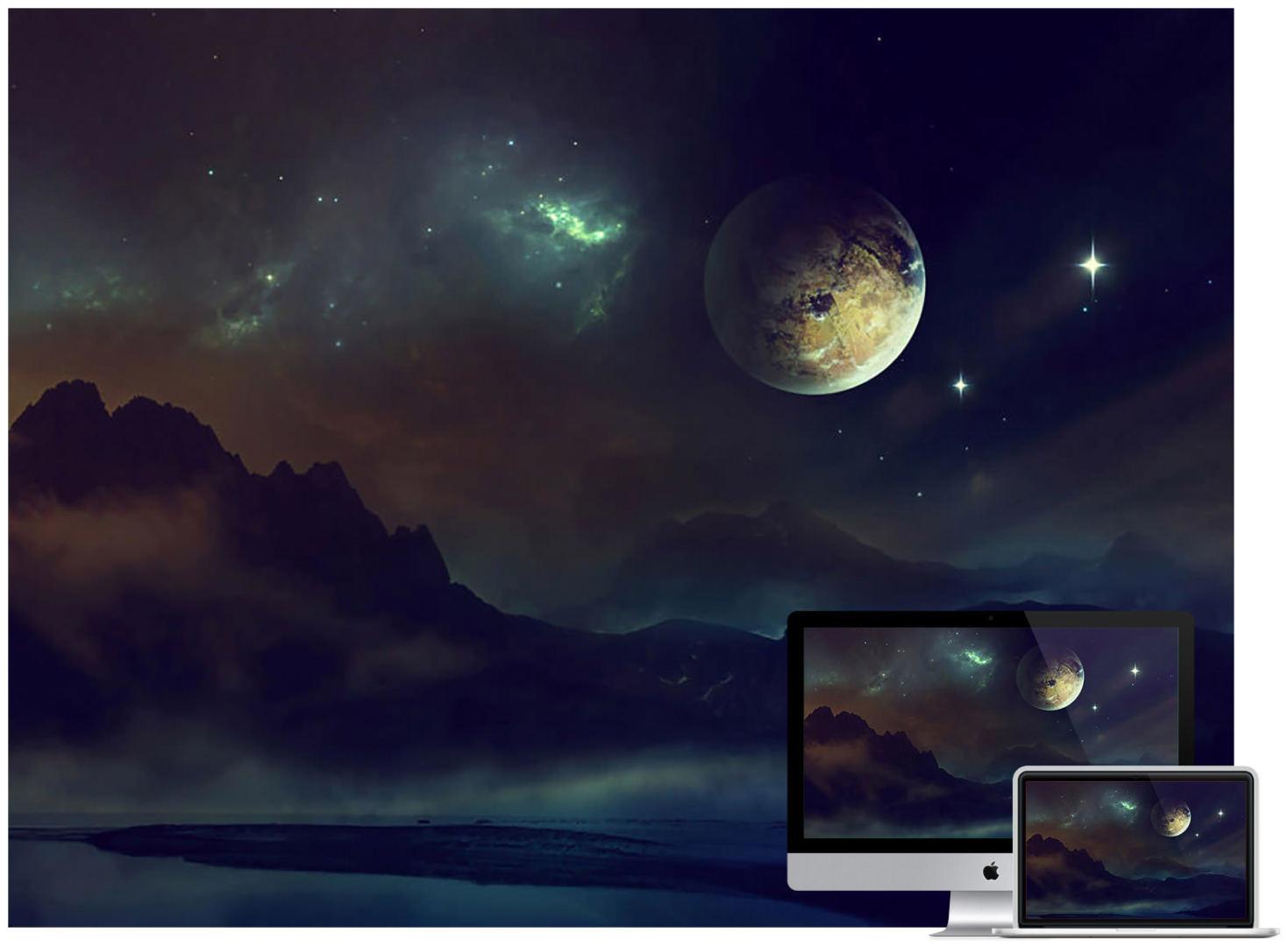 space-planet-light-night