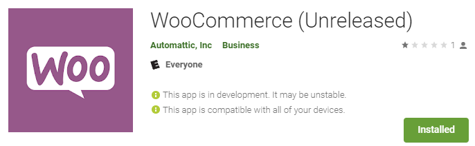 The WooCommerce Android app.