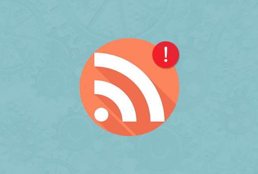 Fixing RSS feed errors in WordPress