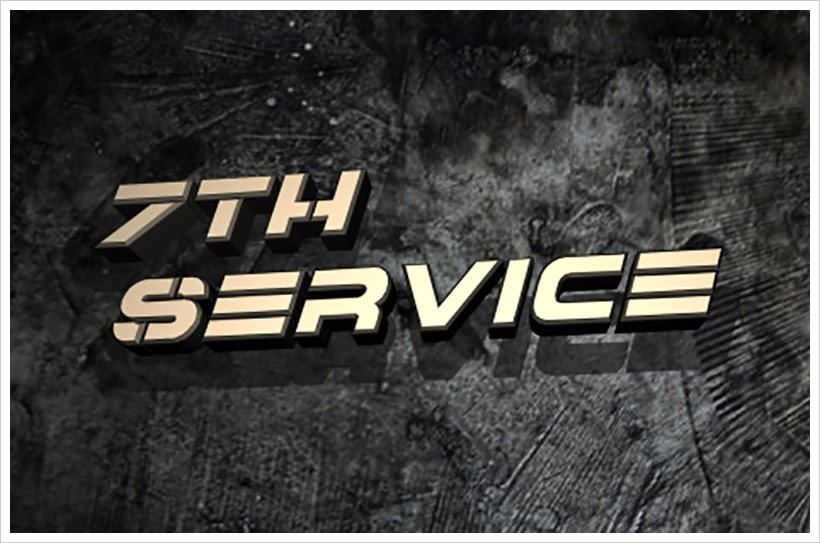7th Services-free-font