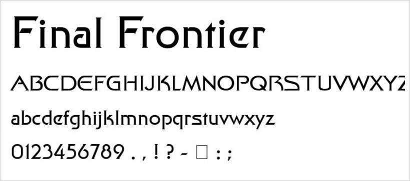 Final Frontier-free-font