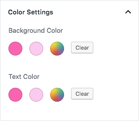 Block color palette